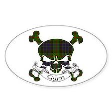 Gunn Tartan Skull Bumper Stickers