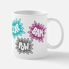 Comic Sound FX - Blue Pink Grey Mug