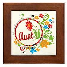 Wonderful Aunt Framed Tile