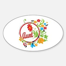 Wonderful Aunt Oval Decal