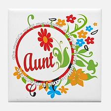 Wonderful Aunt Tile Coaster