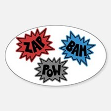 Comic Sound FX - Blue Red Grey Oval Decal