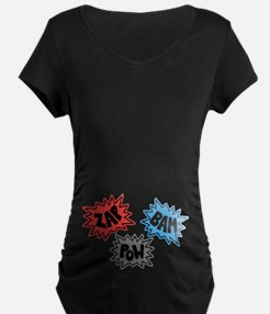 Comic Sound FX - Blue Red Grey T-Shirt