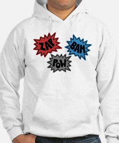 Comic Sound FX - Blue Red Grey Hoodie