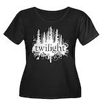 Twilight Women's Plus Size Scoop Neck Dark T-Shirt
