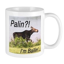 Cute Anti palin moose Mug