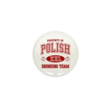 Polish Drinking Team Mini Button (10 pack)