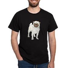 Happy Pug Black T-Shirt
