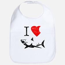 I Love Sharks Baby Bib