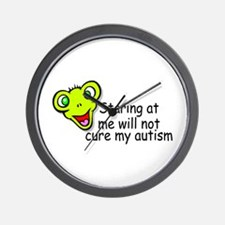 Staring At Me Will Not Cure My Autism Wall Clock