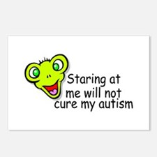 Staring At Me Will Not Cure My Autism Postcards (P