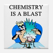 funny chemistry jokes Tile Coaster