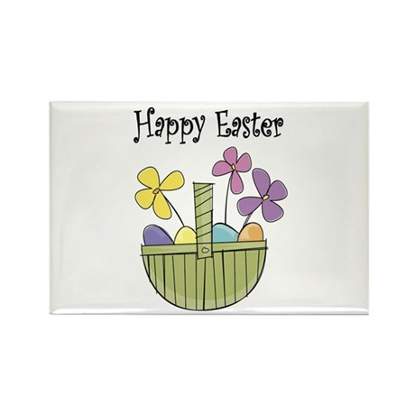 Country Easter basket Rectangle Magnet (10 pack)