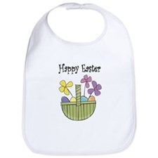 Country Easter basket Bib