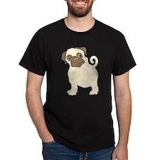 Hungry Pug Black T-Shirt
