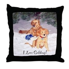 Golden Friends Throw Pillow