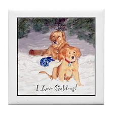 Golden Friends Tile Coaster