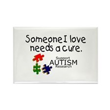 Someone I Love Needs A Cure Rectangle Magnet