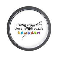 Im An Important Piece To The Puzzle Wall Clock