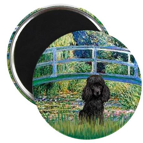 "Bridge / Poodle (Black) 2.25"" Magnet (10 pack)"