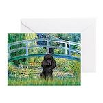 Bridge / Poodle (Black) Greeting Cards (Pk of 10)