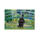 Bridge / Poodle (Black) Rectangle Magnet