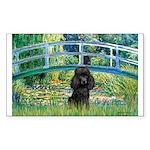 Bridge / Poodle (Black) Sticker (Rectangle 10 pk)