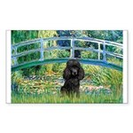 Bridge / Poodle (Black) Sticker (Rectangle 50 pk)