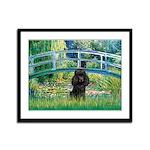 Bridge / Poodle (Black) Framed Panel Print