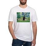 Bridge / Poodle (Black) Fitted T-Shirt