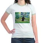 Bridge / Poodle (Black) Jr. Ringer T-Shirt
