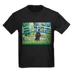 Bridge / Poodle (Black) Kids Dark T-Shirt