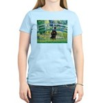 Bridge / Poodle (Black) Women's Light T-Shirt