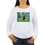 Bridge / Poodle (Black) Women's Long Sleeve T-Shir