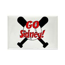 -Sidney Baseball Rectangle Magnet
