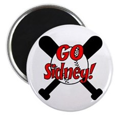 -Sidney Baseball Magnet