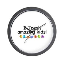 I Teach Amazing Kids Wall Clock