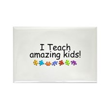 I Teach Amazing Kids Rectangle Magnet (10 pack)
