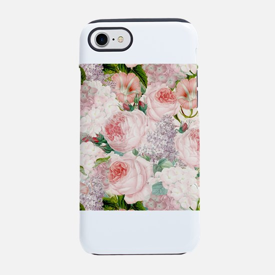 Vintage Roses Lilacs Spring Pa iPhone 7 Tough Case
