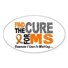 Find The Cure 1 MS Oval Decal