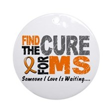 Find The Cure 1 MS Ornament (Round)