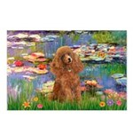Lilies / Poodle (Apricot) Postcards (Package of 8)