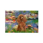 Lilies / Poodle (Apricot) Rectangle Magnet (10 pac