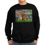 Lilies / Poodle (Apricot) Sweatshirt (dark)