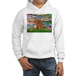 Lilies / Poodle (Apricot) Hooded Sweatshirt