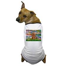 Lilies / Poodle (Apricot) Dog T-Shirt