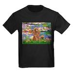 Lilies / Poodle (Apricot) Kids Dark T-Shirt