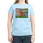 Lilies / Poodle (Apricot) Women's Light T-Shirt