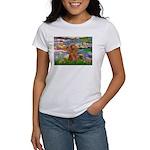 Lilies / Poodle (Apricot) Women's T-Shirt