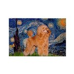 Starry / Poodle (Apricot) Rectangle Magnet